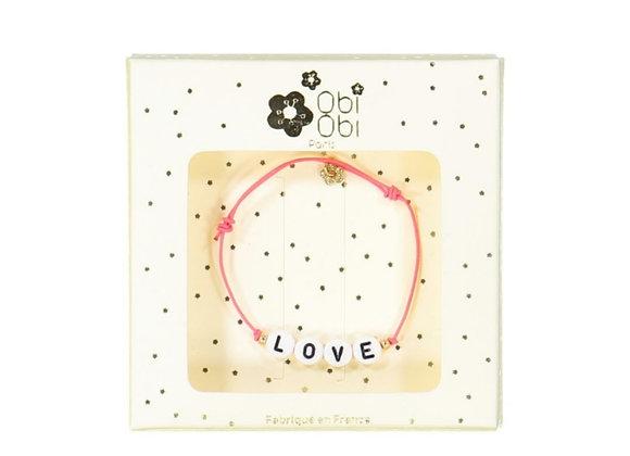 Bracelet cordon Love - Obi obi
