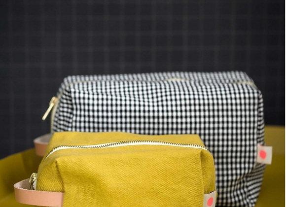 Trousse cube carreaux Vichy GM - La cerise sur le gâteau