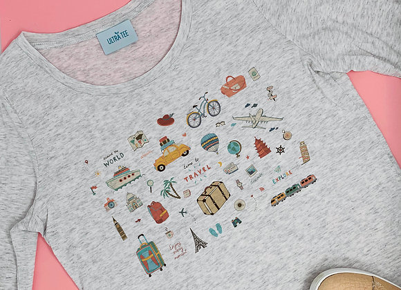 Tee shirt Let's travel - Ultra Tee