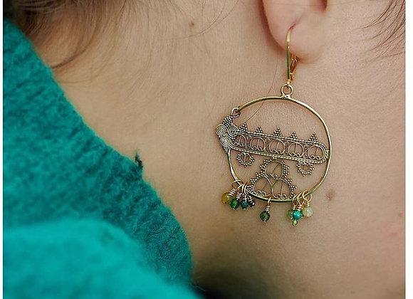Boucles d'oreilles Sacha dentelle - La2L