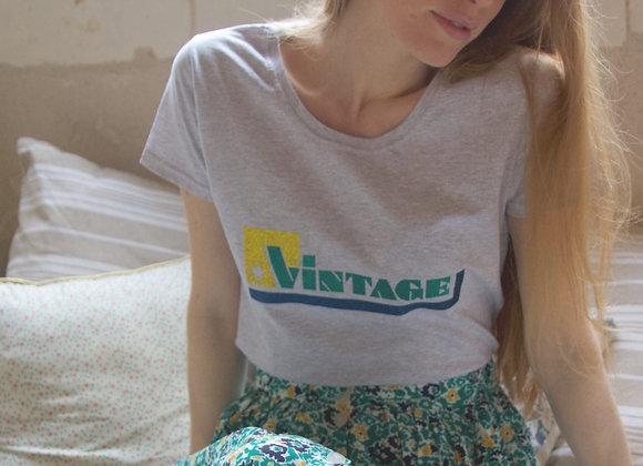 Tee shirt Vintage vert