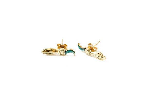 Boucles d'oreilles puces Grigri - La2l