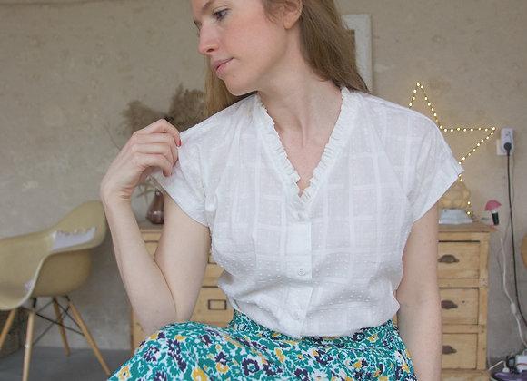 Chemisier Julie plumetis blanc