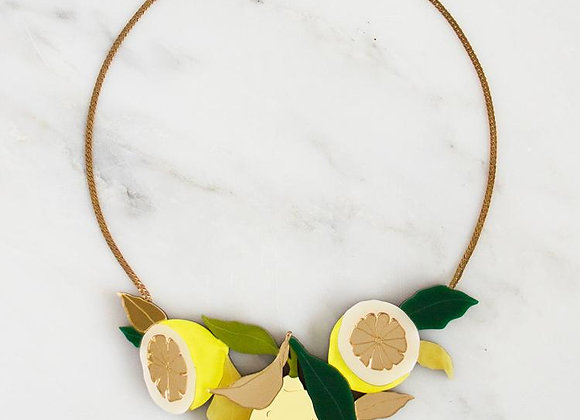 Collier Citrons - Wolf and Moon
