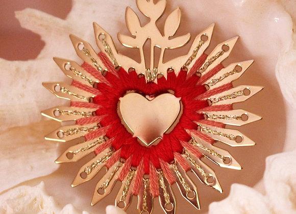 Broche Coeur Flamboyant XL - Christelle dit Christensen