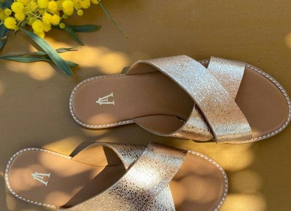 Nu pieds Infinity Spring gold - Craie