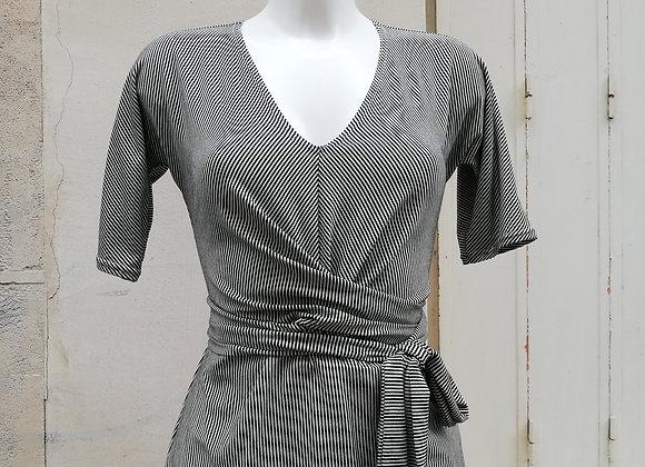 Tee shirt Christie rayé noir et blanc