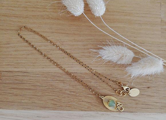 Collier Sacha pierre cœur - La2l