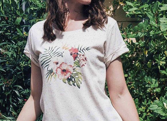Tee shirt Perroquet blanc