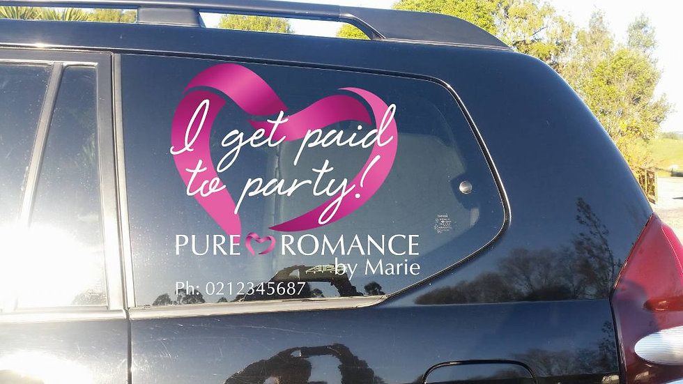 Side Window Decals - I Get Paid To Party - Single