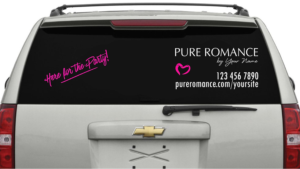Split TRUCK – Here For The Party Pink Decal