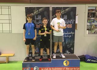 Résultats tournois Jeunes