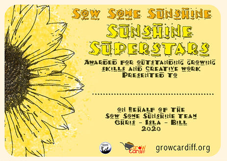 Sow Some Sunshine Certificate - template