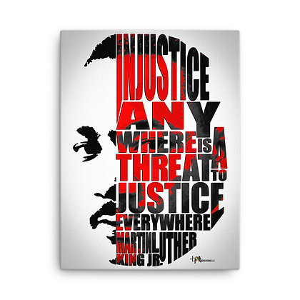 Justice MLK Canvas 20 x 24 Print