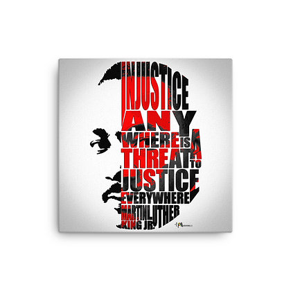 Justice MLK Canvas 16 x 16 Print