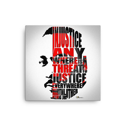 Justice MLK Canvas 12 x 12 Print