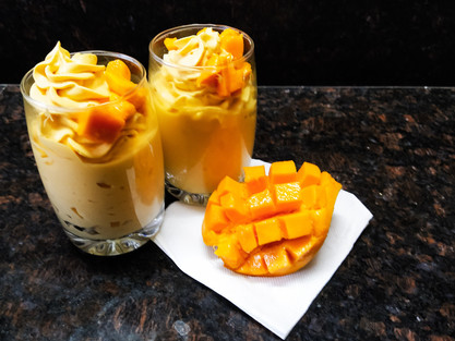 How to make Mango Mousse at Home.| theflavours101.
