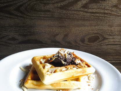 Eggless Waffles at Home| theflavours101.