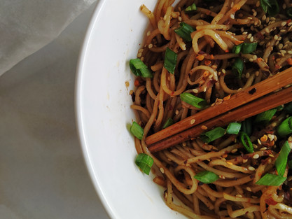 Spicy Chilli Oil Noodles in 10-minutes| theflavours101.