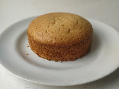 Eggless Vanilla Sponge Cake- no butter, no milkmaid.|theflavours101.