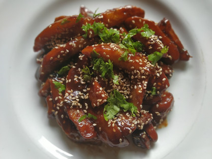 Honey Chilli Potato at Home| theflavours101.