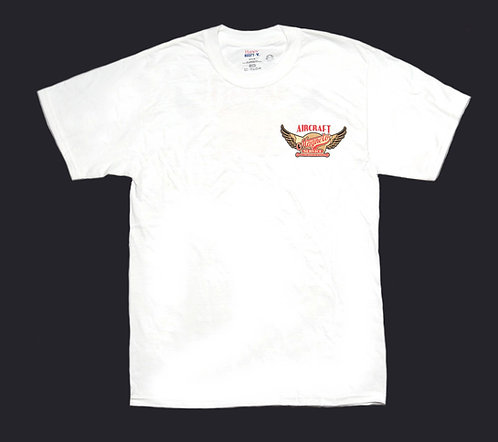 AMS White 100%Cotton T-Shirt