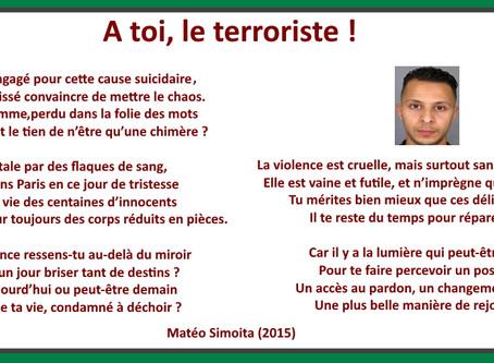 A toi, le terroriste !