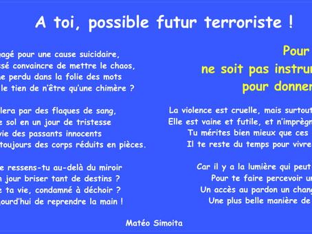 A toi, possible futur terroriste !
