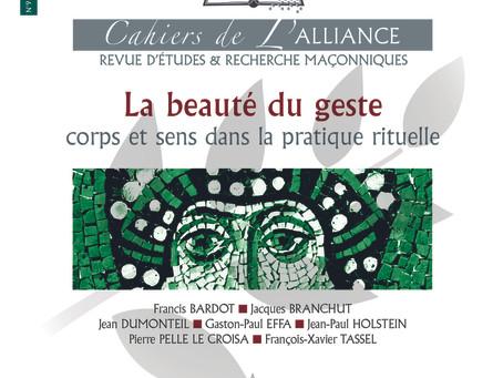 Vient de paraître : Le N°9 des Cahiers de l'Alliance : La Beauté du Geste
