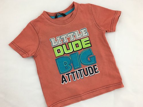 "T-shirt ""Little Dude Big Attitude"""