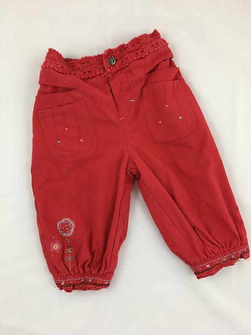 Calças Vermelhas com Rendinha