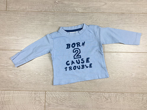 "Camisola "" Born to cause trouble"""