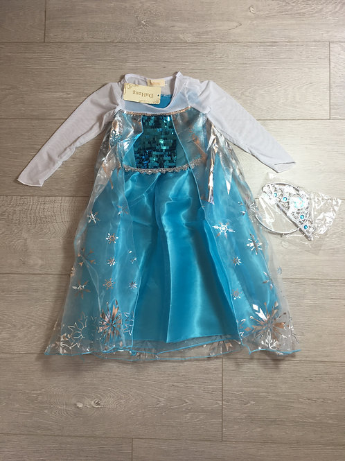 Vestido Frozen com Coroa