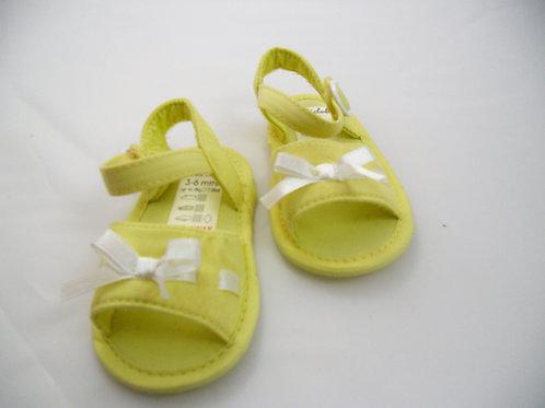Sandálias Com lacinho 3-6 meses