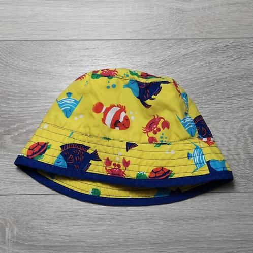 Chapéu amarelo com peixinhos