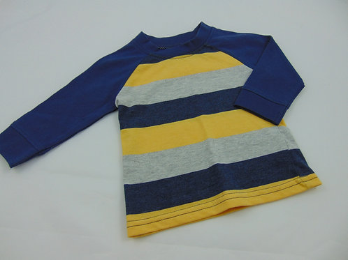 Camisola manga comprida tons Azul & Amarelo