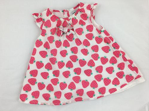 Vestido morangos
