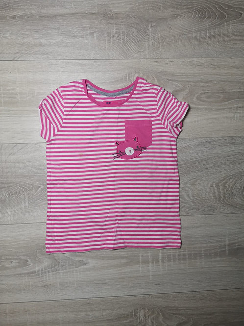 T'shirt rosa ás riscas