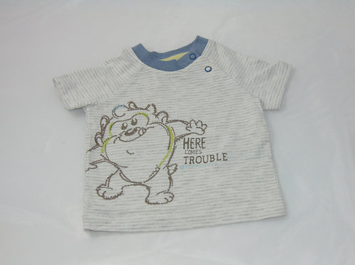 "T-shirt ""here comes trouble"""