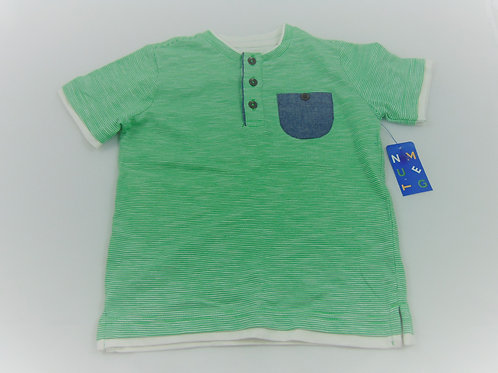 T-shirt com riscas Verdes