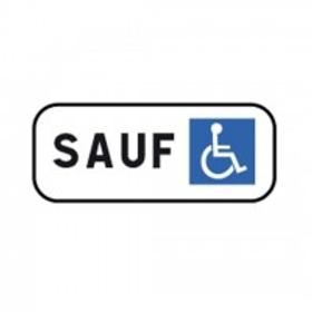 Panonceau M6h interdit sauf personne à mobilité réduite