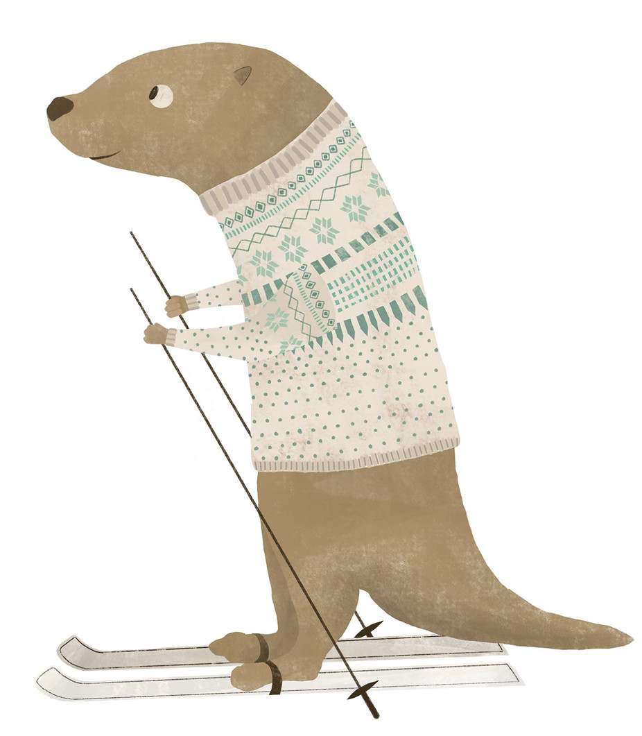 Skiing Weasel