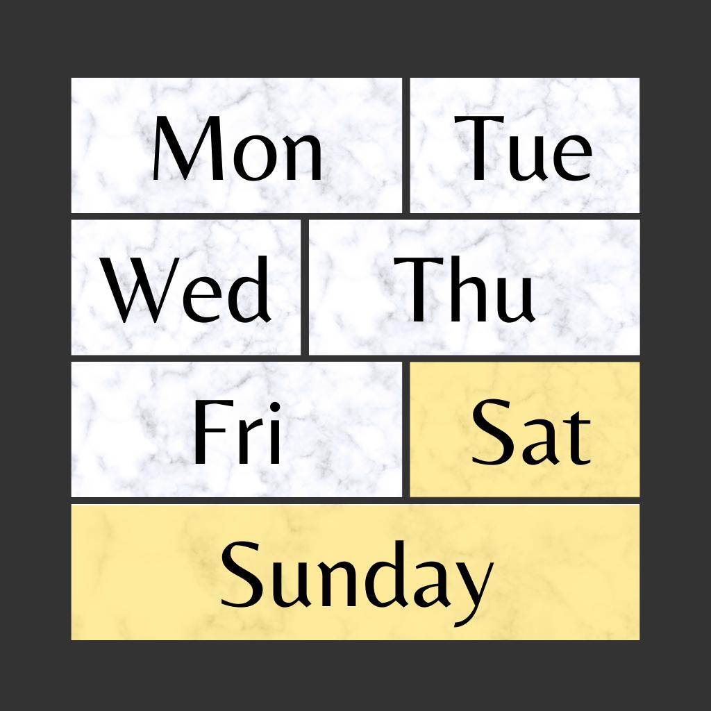 Weekends&Public Holidays @Paladium Gare