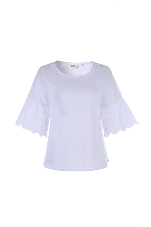 Careen Linen Lace Top