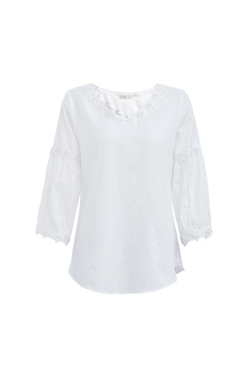 Puff Cotton Lace Top
