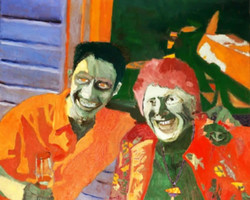 Brent Harris Youth and Beauty Share a Laugh 18 x 24 Oil $1200