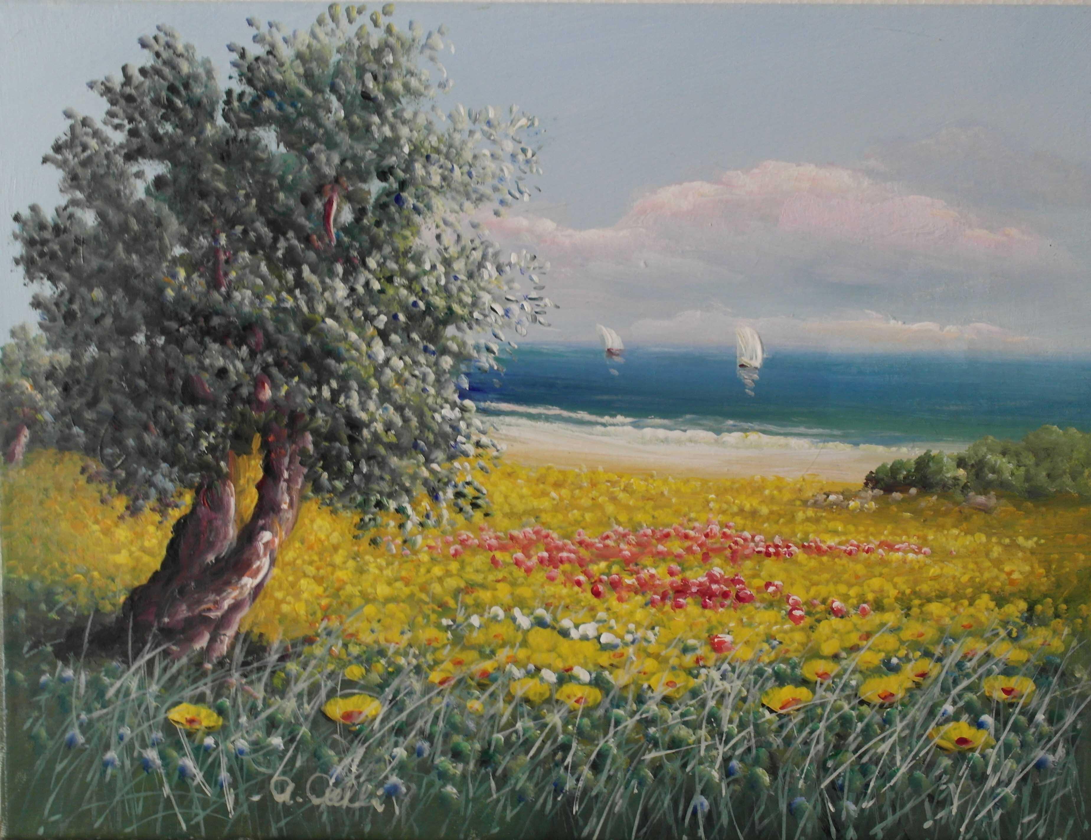 Antonio Anelli  2_Ulivo a primavera_30x40
