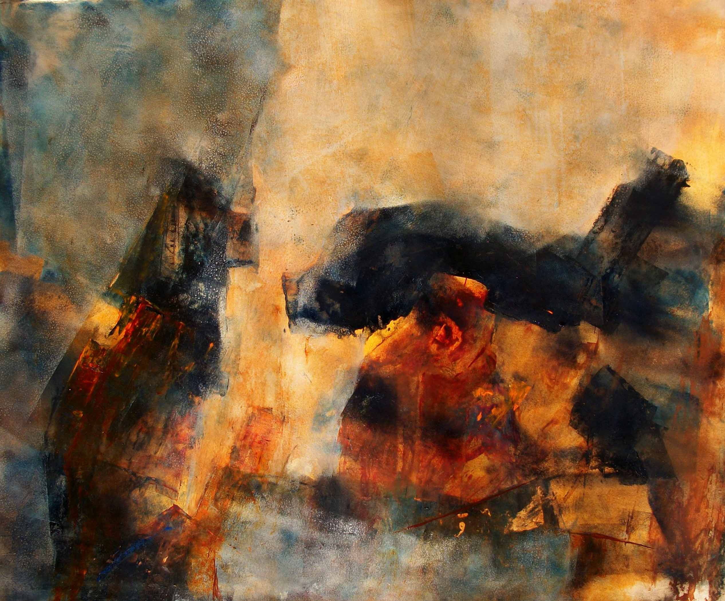 Neena Singh 7  Untitled - 21''x29'' - Inkl  Acrylic on hand made paper