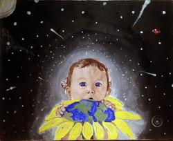 Eric Demattos Baby and Sunflower