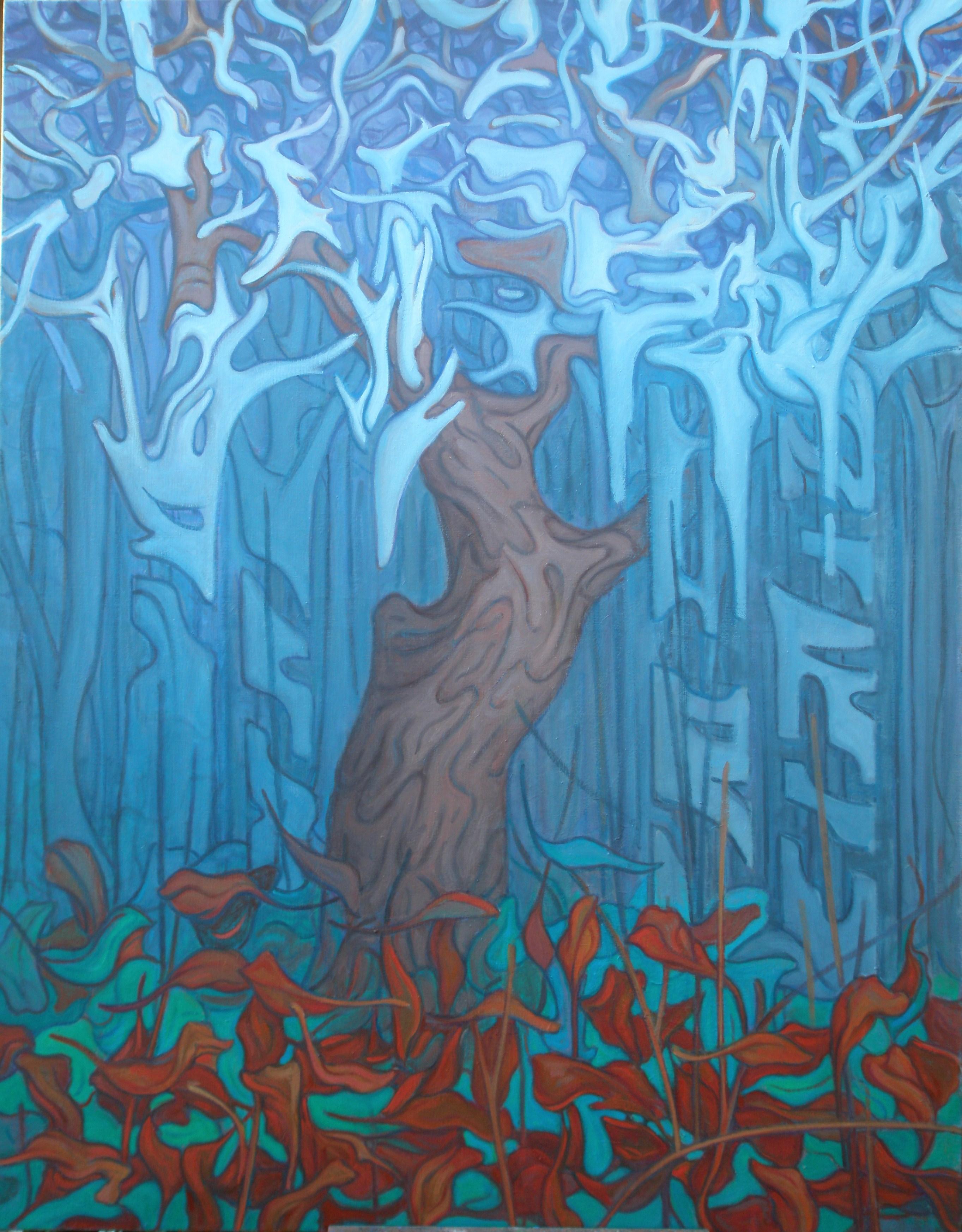 Sami Gjuka Forest Cathedral oil on canvas 160x120  cm - Kopi - Kopi